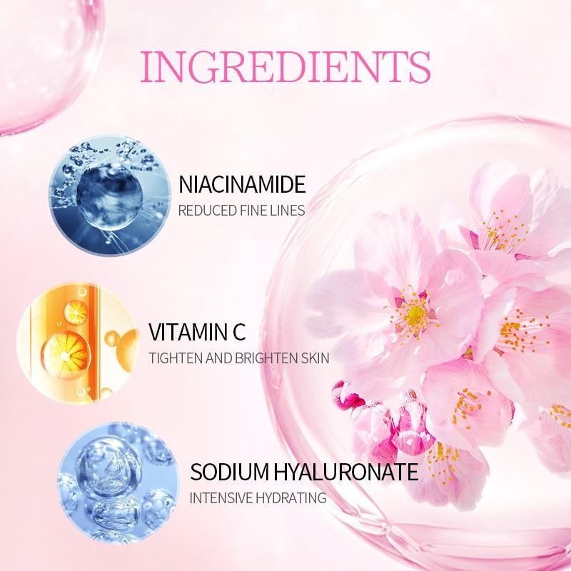 LAIKOU Япония эссенция крем для лица Гиалуроновая кислота увлажняющее средство против морщин против старения сыворотка отбеливающий крем ухо...
