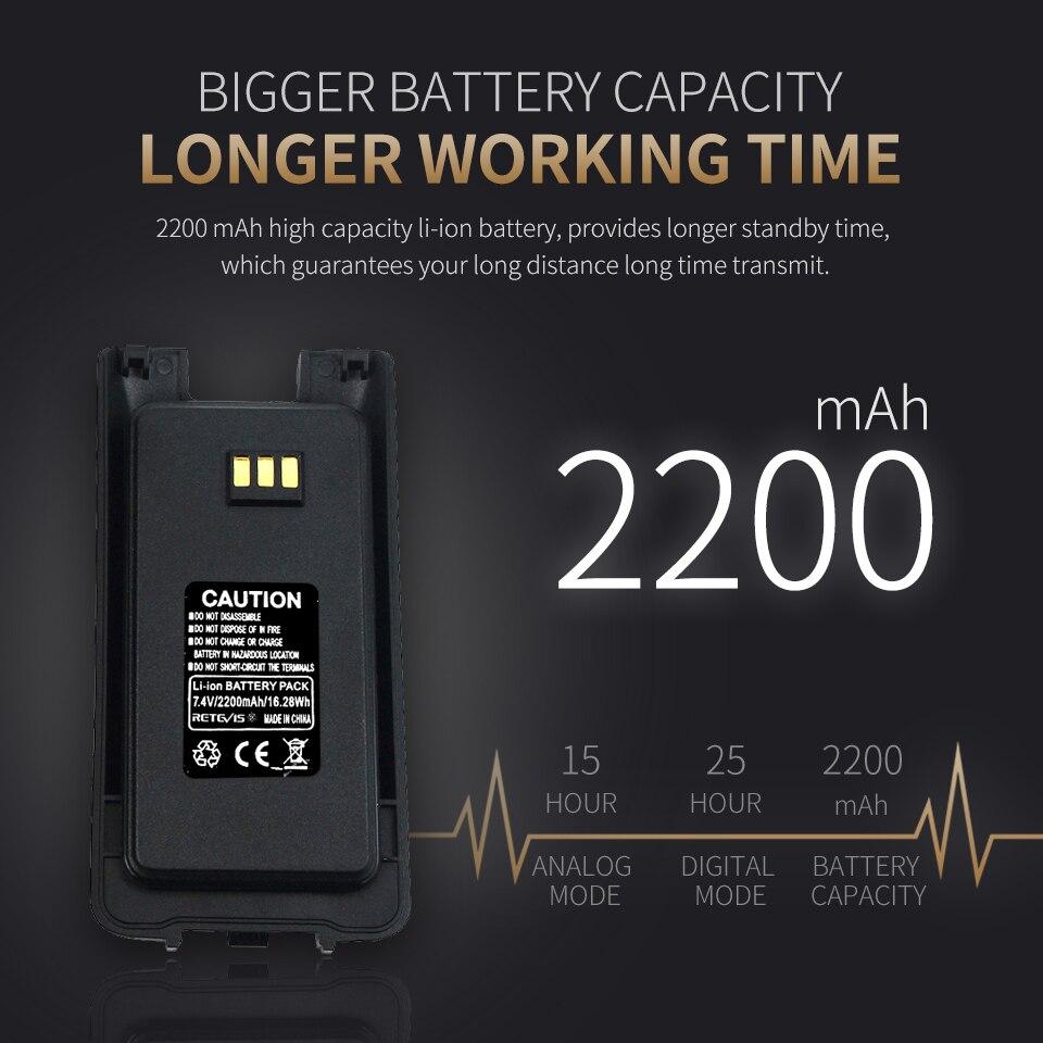 uhf 400 470 mhz vox digital analogico portatil radio bidirecional 03