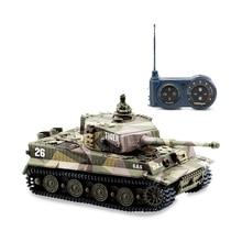 1: 72 Мини Тигр Битва rc Танк дистанционного управления по радио Panzer бронированный автомобиль детские электронные игрушки для мальчиков Дети Рождественский подарок