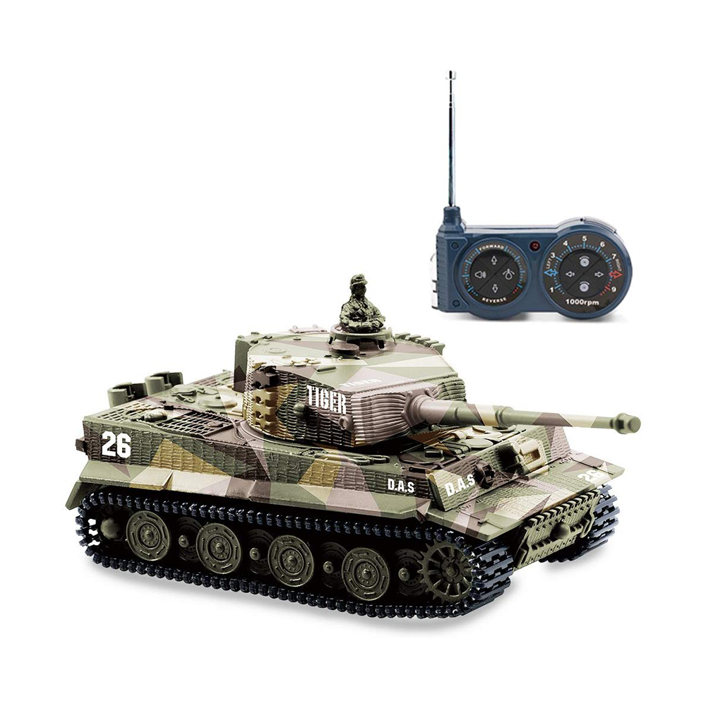 1:72 Mini Tiger Battle RC Tank Remote Radio Control Panzer Armored Vehicle Children Electronic Toys for Boys Kids Christmas Gift