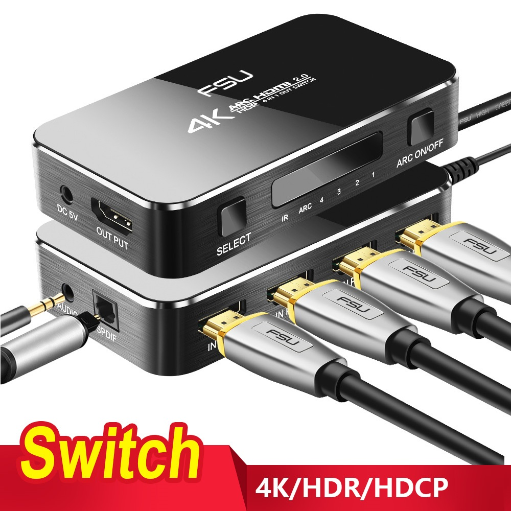 Switcher-Adapter Splitter Audio-Extractor Hdmi-Switch PS4 Android Smart Xbox 360 4k 60hz title=