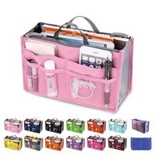 Органайзер, сумка-вкладыш, женская сумка для хранения, нейлоновая дорожная вставка, органайзер, сумочка, кошелек, большой вкладыш, косметичка для макияжа, женская сумка-тоут