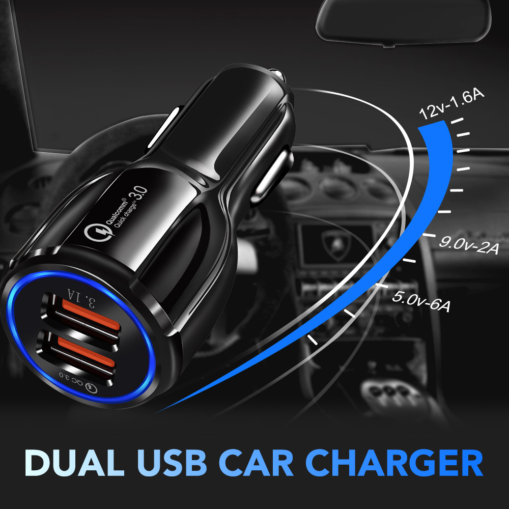 For Nissan Car Charger Dual Port USB Smart Mobile Phone Fast Charging 2.1A//1A