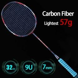 Профессиональные сверхлегкие ракетки для бадминтона 9U 57 г из углеродного волокна в китайском стиле с сумками на шнурках, ракетки для спорта...