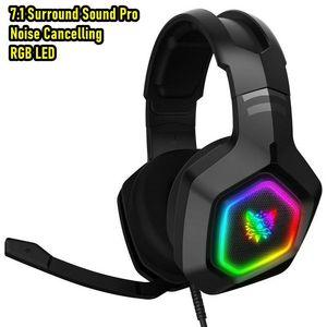 Игровая гарнитура ONIKUMA K10 с объемным звуком басов, RGB, для PS4, Xbox One, ПК с микрофоном