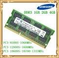 Samsung ноутбук память DDR3 4 Гб 2 Гб 1 ГБ 1066 1333 1600 МГц PC3-10600 8500 12800 RAM 10600S 2G 4G