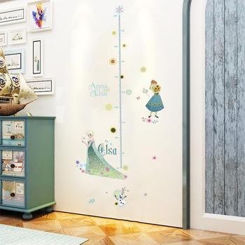 Cartoon Princess Elsa Wall Stickers for Kids Rooms Girls Bedroom Poster Vinyl DIY Mural Art Adesivo de parede Decal Baby Nursery 16