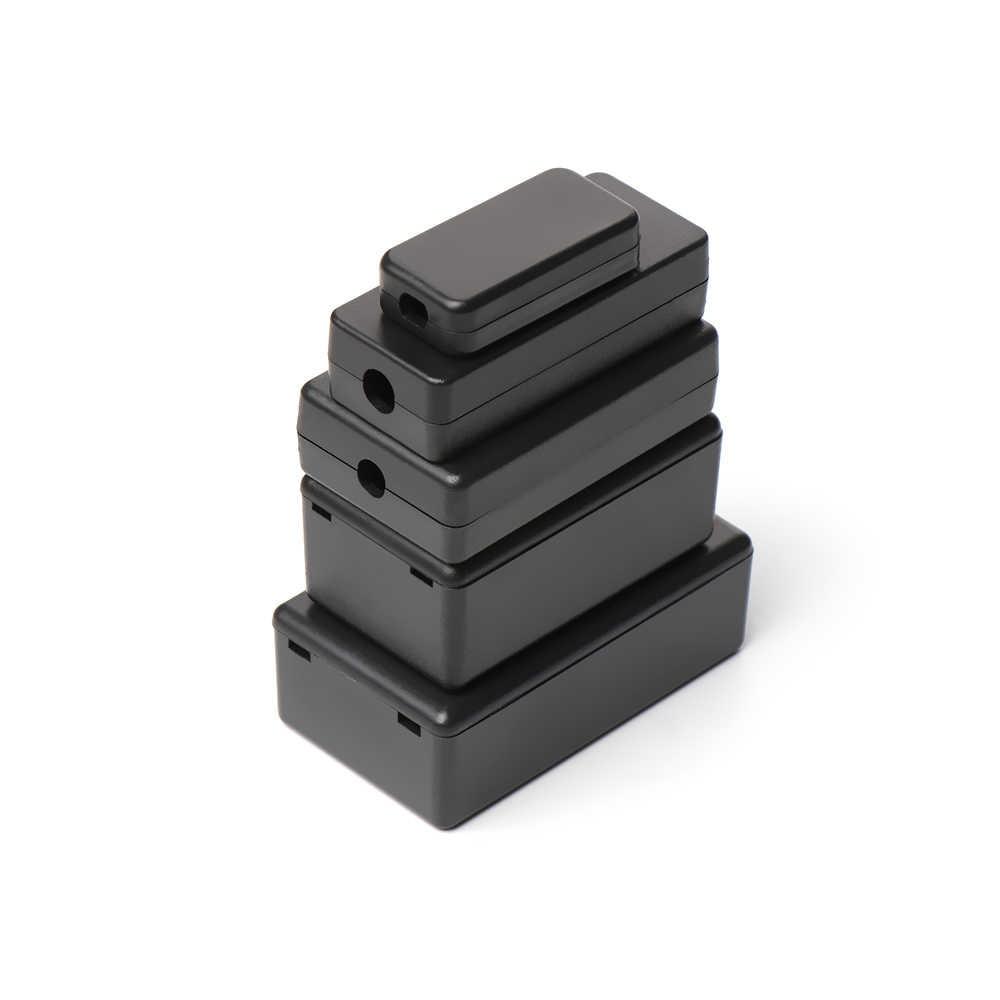 Baru 2 Pcs Plastik Tahan Air Hitam DIY Perumahan Kasus Instrumen Plastik Elektronik Proyek Cover Hot Plastik ABS Enclosure Kotak