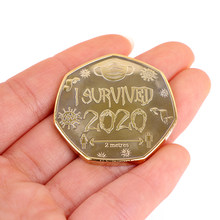 Colección de monedas de 40x2mm, 1 unidad, recuerdo, 2020