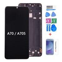 Voor Samsung Galaxy A70 A705/Ds A705F Lcd-scherm Met Touch Screen Digitizer Vergadering A705FN A705GM A705MN Lcd Met frame