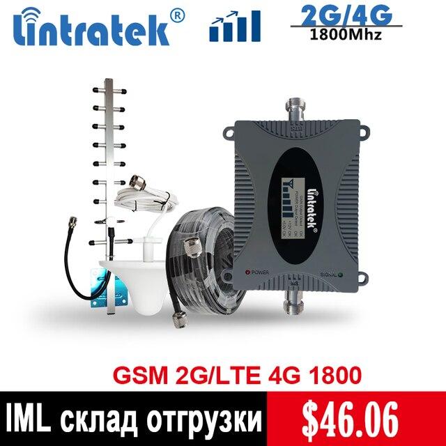 Lintratek 4G مكرر إشارة LTE 1800mhz مكبر صوت أحادي 65dB GSM1800 مكرر (الفرقة 3) 4G الهاتف المحمول إشارة الداعم مجموعة @ 5
