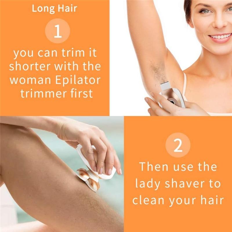 Dispositivo removedor de cabelo elétrico rosto depilador