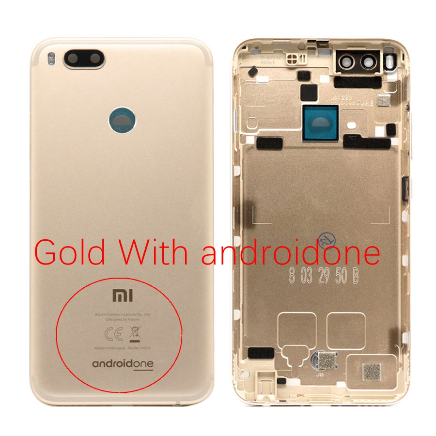 Image 5 - for Xiaomi Mi A1 Back Battery Cover Rear Door Case Chassis For Xiaomi Mi A1 Battery Cover Back Housing With Androidone Replace-in Mobile Phone Housings & Frames from Cellphones & Telecommunications