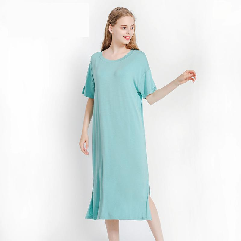 Modal Material Long Loose Nighties For Women Bust 80-120cm Can Wear   Nightgowns   &   Sleepshirts   1330
