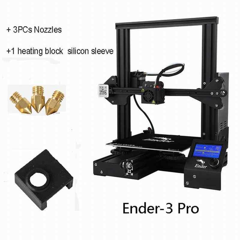 Ender-3 de créalité/3PRO/3X avec 3 buses/2PLA/Silicone imprimante 3D Kits de bricolage assemblage v-slot brevet de MK-10 de grande taille