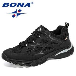 Image 5 - BONA 2019 นักออกแบบใหม่วัวแยกตาข่ายรองเท้าวิ่งชายรองเท้า Low Top นักเรียนกีฬาการฝึกอบรมรองเท้าผ้าใบ Man Jogging กีฬารองเท้า