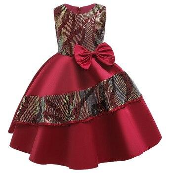 цена на Kids Dresses For Girls Princess Wedding Flower Girl Tutu Dress Christmas Party Bridesmaid Formal Communin Gown Teen Girl Clothes