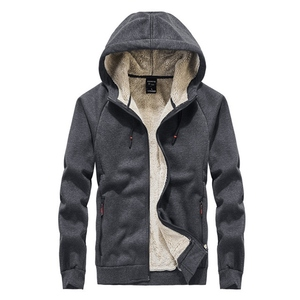 Image 2 - Autumn and winter new mens Fleece  hoodie Plus size casual loose large size mens plus velvet jacket male 8XL