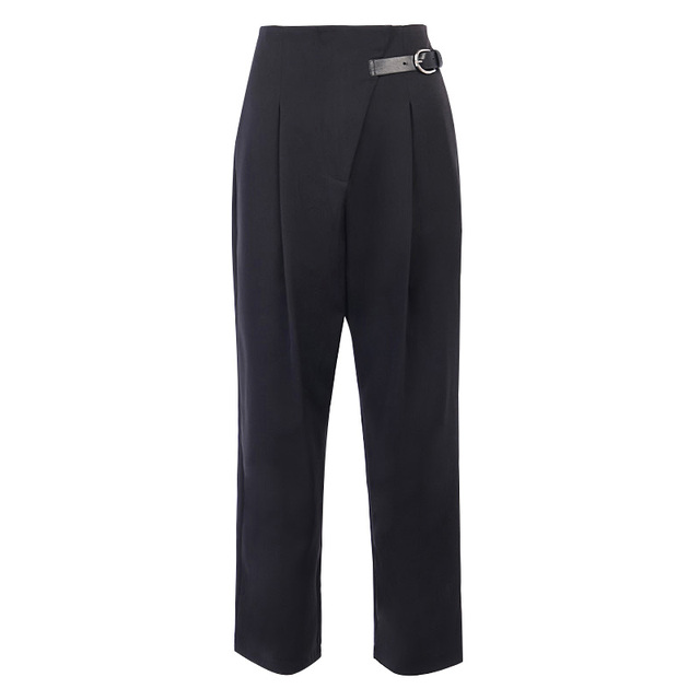Black Casual Straight Suit Pants 4