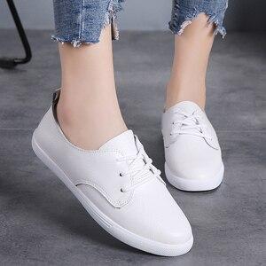 Image 3 - STQ סתיו נשים מוקסינים נעלי נשים אמיתי עור הנוודים נעלי ספורט נעליים להחליק על נשים חורף דירות הליכה נעלי 8833