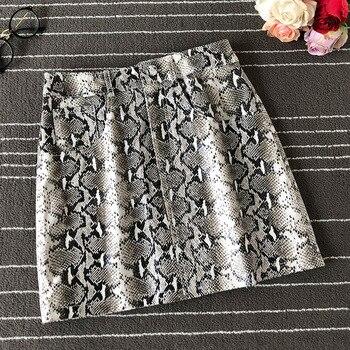 2020 Fall New Womens Sheepskin Skirt High Waist A- Line Skirt Fashion Slim Skirt Serpentine Skirt Tight Sexy Womens Skirt фото