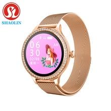 امرأة ساعة ذكية شاشة ملونة الرياضة المقتفي IP68 مقاوم للماء معدل ضربات القلب ضغط الدم الإناث فترة الفسيولوجية تذكير