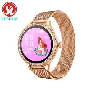 Image 1 - Kobieta inteligentny zegarek kolorowy ekran Sport Tracker IP68 wodoodporny tętno ciśnienie krwi kobiece przypomnienie okresu fizjologicznego