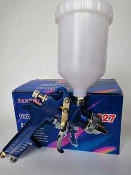 цена на H-827 Airbrush 1.4/1.7mm/2.0mm Nozzle Professional HVLP Air Paint Spray Gun Airbrush For Painting Car Spray Tool