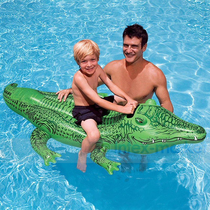 New Original Authentic Crocodile Mount Water Inflatable Mount Children Play Animal Toys Boy Water Party Gift