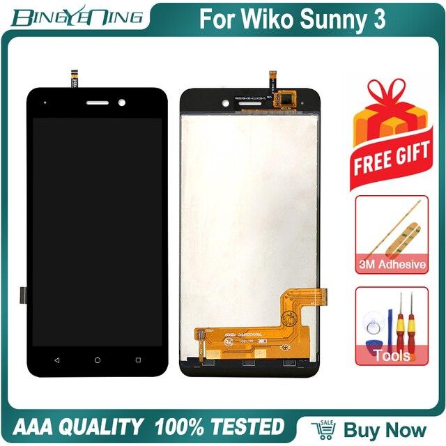 Novo original para wiko sunny 3 lcd & digitador da tela de toque com moldura display módulo acessórios montagem ferramentas substituição