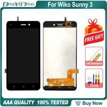 جديد الأصلي ل Wiko Sunny 3 LCD و محول الأرقام بشاشة تعمل بلمس مع الإطار وحدة شاشة عرض الملحقات الجمعية استبدال أدوات