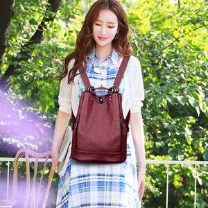 Image 5 - LANYIBAIGE נשים תרמיל תרמילי עור באיכות גבוהה עבור נערות נשי בית ספר כתף תיק Bagpack המוצ ילה plecak