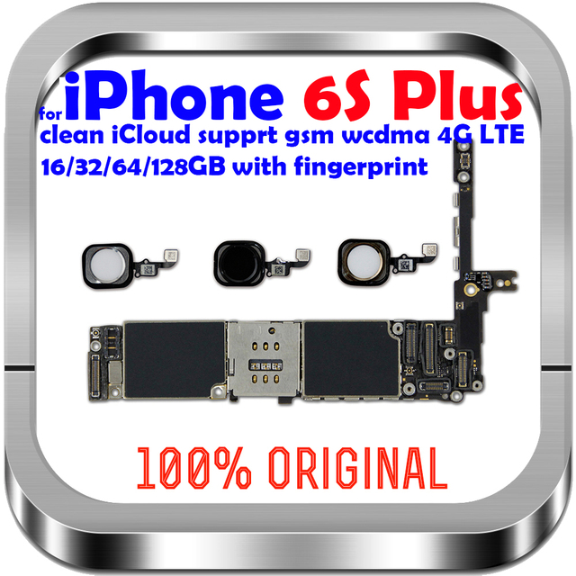 16gb / 64gb / 128gb  unlocked for iPhone 6S Plus Motherboard with / without Touch ID Logic board for iphone 6s 5.5inch