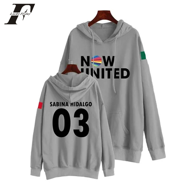 Now United Sabina Hidalgo 03 Hoodie Sweatshirts Trui Kpop Newtracksuit Streetwear Print Casual Mannen Vrouwen Printed Coat Tops 3