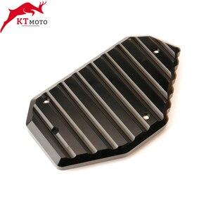 Image 5 - SUZUKI için V STROM 650/XT VSTROM 650 DL650 2004 2020 motosiklet CNC Kickstand ayak yan ayak uzatma Pad destek plakası