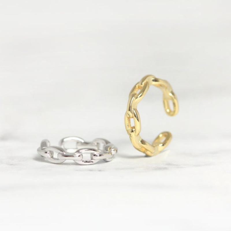 Chain Conch Ear Cuff No Piercing Earrings Women 925 Sterling Silver Non Pierced Fake Helix Trendy Fine Jewelry Party Brinco