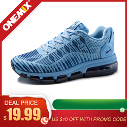 ONEMIX Running Shoes For Women Air Mesh Full Plam Air Cushion Max Athletic Trainers Sports Outdoor Shoes Walking Sneakers