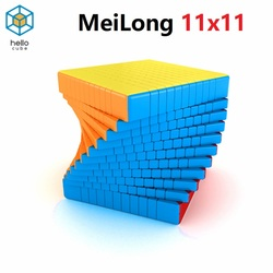 HelloCube MOYU Cubing classroom MeiLong 11x11 magic cube Stickerless Plastic 11 layer Puzzle Speed Magic Cube TOYS  Brain Teaser