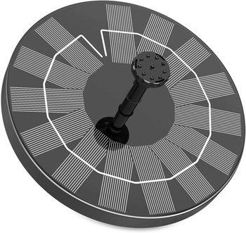 AISITIN 3 5W fontanna solarna oczko wodne fontanna solarna z 6 dyszami fontanna zasilana energią słoneczną na oczko wodne s ogród i na zewnątrz tanie i dobre opinie CN (pochodzenie) 3 5W Solar Fountain Black 18cm 360g Solar Powered