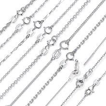BAMOER Классическая Базовая цепочка, серебро 925 пробы, застежка-Омар, регулируемое ожерелье, цепочка, модное ювелирное изделие, SCA009-45