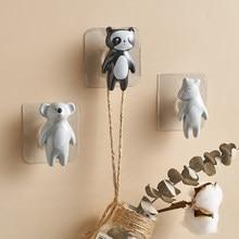 Cute Animal Ceramic Hook Cartoon Wall Decor Bathroom Accessories Minimalist Key Holder Wall Girls Room decoration Paste hook