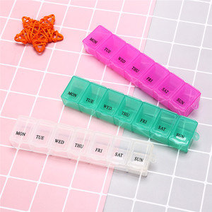 1Pc 7 Days Pill Medicine Box Weekly Tablet Holder Storage Organizer Container Case Pill Box Splitters 3 Colors(China)