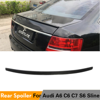 Rear Spoiler for Audi A6 C6 2005 2011 Carbon Fiber Trunk Lip