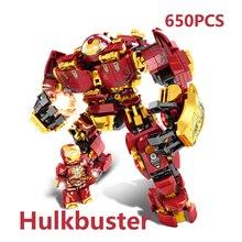 Legoinglys Marvel халкбастер Железного человека войны машины Строительные блоки Супер Герои Мстители Бесконечность войны для детей Детские игрушки Подарки
