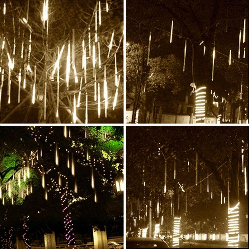 Işıklar ve Aydınlatma'ten Aydınlatma İpleri'de 30cm yağmur ışığı 8 asılı Led duş açık su geçirmez yama duş lambası bahçe lambası title=