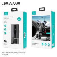 USAMS Universal Car Phone Holder Gravity Car Bracket Air Vent Stand Holder For iPhone Samsung Huawei Xiaomi Gps Support Holder