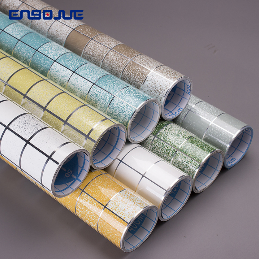 Waterproof Mosaic Wall Papers Self-adhesive Aluminum Foil Kitchen High Temperature Oil-proof Wall Stickers Bathroom Tile Sticker