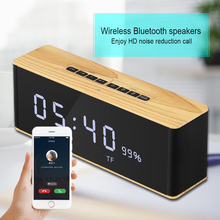 Portable Bluetooth Loudspeaker Music-Soundbox Clock Stereo LED with Time-Display Alarm