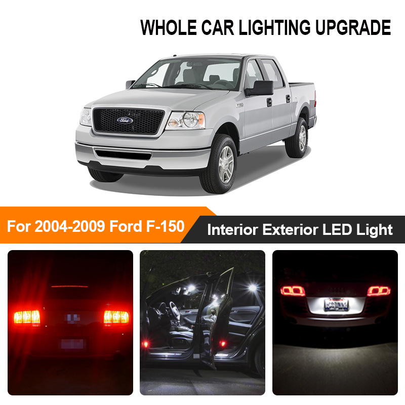 White Amber Car Bulbs Exterior Interior <font><b>LED</b></font> Light For 2004 2005 2006-2009 Ford F150 F-150 Reverse Brake Parking Turn Signal Lamp image