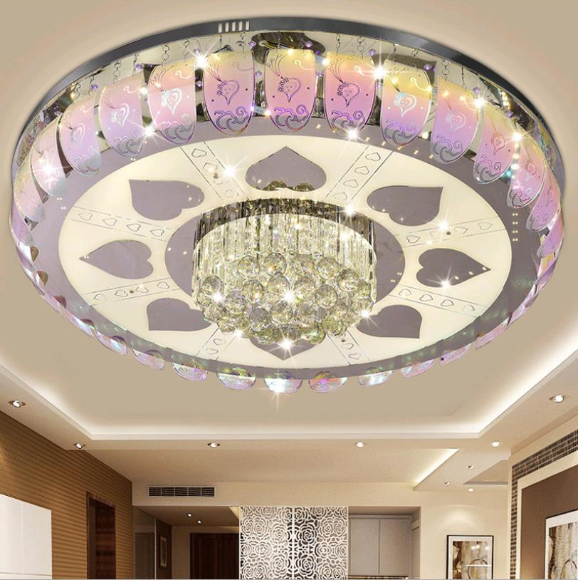Living room light modern simple creative led ceiling light dining room bedroom round crystal light